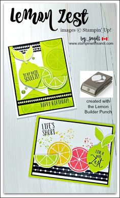 Hi stampers I have a fun share today, Lemon Zest Live it with Zest created with the NEW Lemon Zest Bundle from Stampin' Up! I love that I can make these stamps into lemons, Limes, Grapefruit etc. Card Making Inspiration, Making Ideas, Cards For Friends, Friend Cards, Stampin Up Catalog, Handmade Birthday Cards, Handmade Cards, Friendship Cards, Card Maker