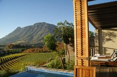 View from Suite at Delaire, Stellenbosch, South Africa - photo taken by Cathy
