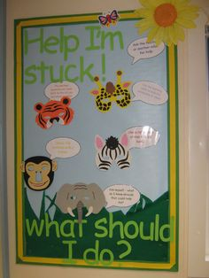 Help Im Stuck Display, classroom display, class display, animals, stuck, what should I do, help, support, Early Years (EYFS), KS1 & KS2 Primary Resources