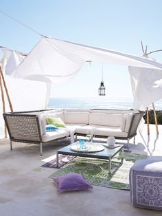 Canopied patio