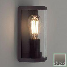 Astro (7185) Paros Exterior Black Clear Wall Light | Wall Mounted Lights | Exterior Lighting | Dusk Lights - Modern Home Lighting