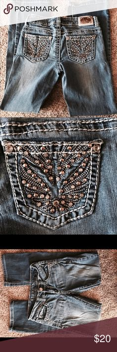 Miss chic jeans Cute miss chic jeans size 1 good condition bottoms are perfect as shown. miss chic Jeans Straight Leg