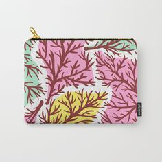 Tree Blobs Carry-All Pouch by mky Organize Your Life, Wraparound, Pouches, Art Supplies, Carry On, Zip Around Wallet, Coin Purse, Ipad, Exterior