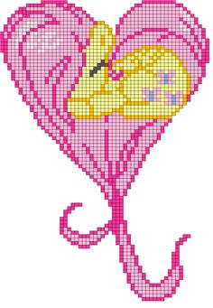 Fluttershy heart pattern by indidolph on deviantART