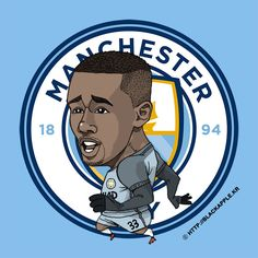 Manchester City No.33 Gabriel Jesus Fan Art