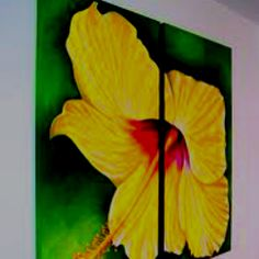 An idea I have for an art project with my best friend Sarah... Thinking of painting something similar to this idea (maybe not a flower) on ceiling tiles from our old high school art room