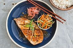 Miso eggplant with pickled vegetables