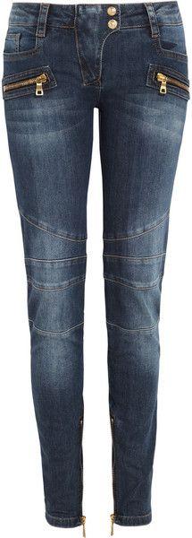Moto Paneled Skinny Jeans - Lyst