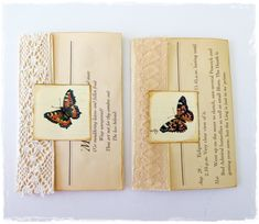 Edith Holden envelope flip outs, set of two
