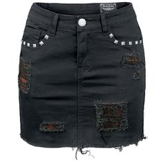 Rock Rebel by EMP  Short skirt  »Destroyed Mini« | Buy now at EMP | More Rock wear  Short skirts  available online ✓ Unbeatable prices!