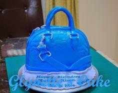 Glynette's Cake:Blue Handbag Cake