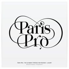 Paris Pro |  New Typeface for Fashion by Moshik Nadav by Moshik Nadav Typography, via Behance