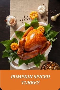 It's officially pumpkin spice season! This Thanksgiving, why not try @chefbenkelly's Pumpkin Spice Turkey. It's sure to be trending on your newsfeed. Turkey Dishes, Whole Turkey Recipes, Thanksgiving Recipes, Pumpkin Spice, Family Meals, Entrees, Special Occasion, Food And Drink