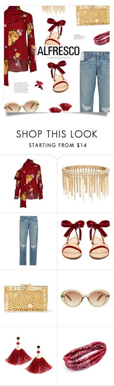 """Easy Breezy: Alfresco Dining"" by loloksage ❤ liked on Polyvore featuring Magda Butrym, Jenny Packham, rag & bone, Valentino, Charlotte Olympia, MANGO, Shashi and Mudd"