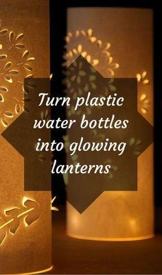 Turn Plastic Water Bottles Into Glowing Lanterns