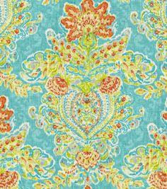 Home Decor 8''x 8'' Fabric Swatch  Print Fabric-Dena Crystal Vision Capri