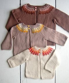 Whit's Knits: Baby Girl Fair Isle Cardigan | Read all about … | Flickr