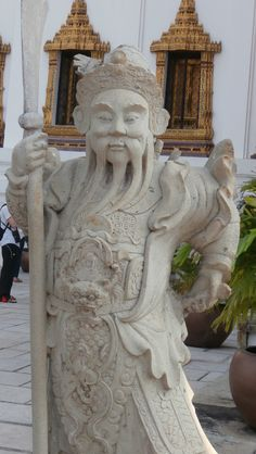 A warrior statue from the Grand Palace