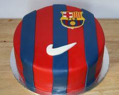 Barcelona Soccer cake by KB Cakes www.kbcakes.me