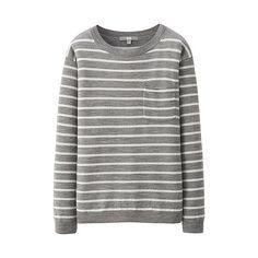 WOMEN Extra Fine Merino Striped Sweater - Boyfriend fit