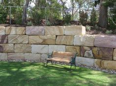 rock wall landscaping armour stone wall with natural steps adding