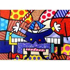 Quadro Tela - Painel Pianista 1 - Romero Britto - R$ 490,00 no MercadoLivre
