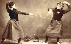 The Most Perfect Education of Body, Mind & Heart - Vassar, the Alumnae/i Quarterly try fencing the coolest sport around and burns calories without you noticing it too Women's Fencing, Fencing Sport, Fence, Fencing Equipment, Fencing Foil, Belle Epoque, Downton Abbey, Victorian Women, Victorian Era