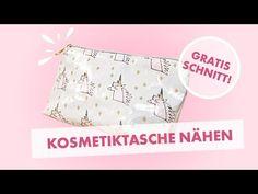 DIY Nähanleitung für Einsteiger: Kosmetiktasche aus Wachstuch nähen - mit kostenlosem Schnittmuster - YouTube