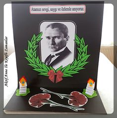 *Atatürk *Atam * Atamızı anıyoruz *10 Kasım *Belirli gün ve haftalar *Atatürkümzü anma köşesi *kağıttan mumlar *mum *candle