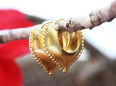 Gold Hoop Earrings Unique Gold Earrings Ethnic Gold | Etsy Gold Hoop Earrings, Unique Gold Earrings, Ethnic Gold Earrings, Antique Style Earrings, Boho Gold Jewelry, Solid Gold Earrings, Boho Earring #ORITSOSNER