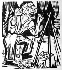 German Expressionist Woodcuts: Ernst Ludwig Kirchner (German, 1880-1938)