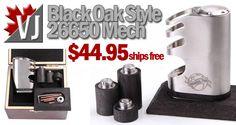 CRAZY LOW! - Black Oak Styled 26650 Mech Mod - ONLY $45