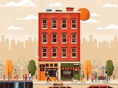 Street Life  | Matt Carlson Illustrations | We And The Color