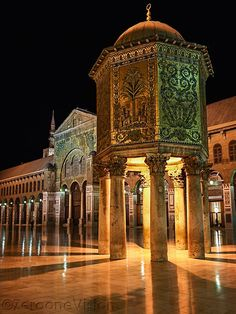 The Umayyad Mosque, also known as the Great Mosque of Damascus, Syria.