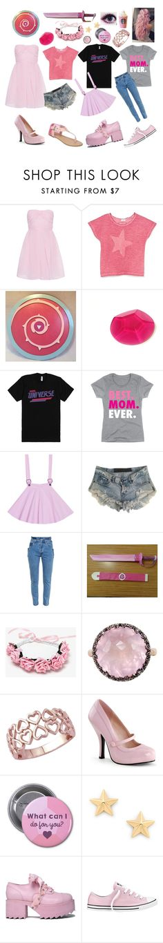 """Steven Universe: Rose Quartz"" by notasupervillian ❤ liked on Polyvore featuring Carven, MANGO, One Teaspoon, Vetements, Mike Saatji, Rebecca Minkoff and Converse"