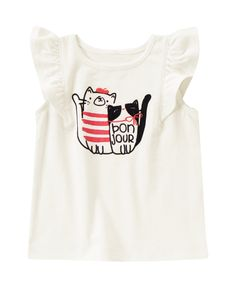 Bonjour Kitties Tee at Gymboree