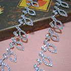 1yard Clear Rhinestone Silver Chain Costume Applique Trim 25mm wide ML18 - #appliqué, #costume, 1yard, 25mm, CHAIN, Clear, ML18, Rhinestone, silver, trim, wide