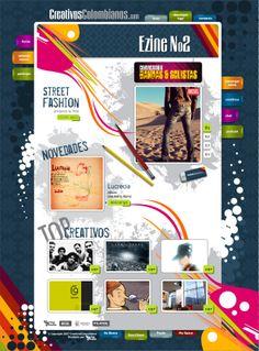 Esta fué la primera versión del sitio web de Creativos Colombianos (no era una red social en ese entonces)