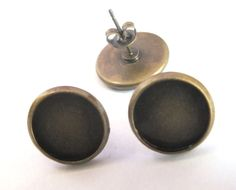 Free ship!!!1000pcs/lot ancient bronze earring findings-earring post/earring stud insert 12mm