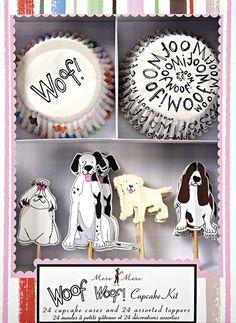 Meri Meri - Cupcake Set Hunde Woof Woof bei www.party-princess.de