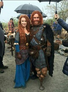 Merida & her father OUAT