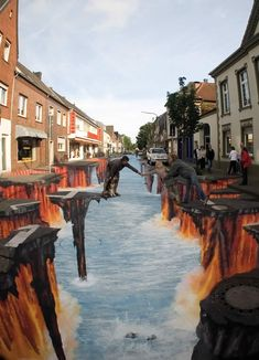 I like this because it has bright colors in it and it represents a street painting.