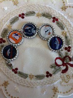 Denver Broncos Inspired Charm Bracelet made by HochePotBoutique #Broncos https://www.etsy.com/listing/161371639/denver-broncos-inspired-charm-bracelet?