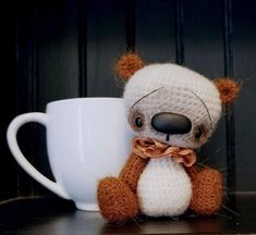 OOAK Mini Thread Artist Teddy Anime Bear by SammiBears Reserved for kvarnfors