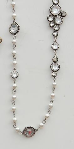Pearl Gemstone Necklace, $30