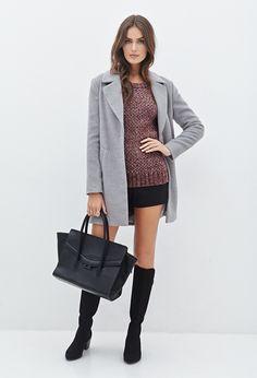 Marled Knit Raglan Sweater