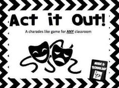 Act it Out!- Drama Game Printable- A Charades like game the includes a game board and the printable cards to go along with it. #teacherspayteachers #drama #education
