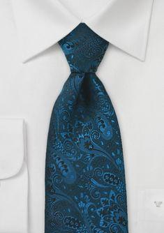Paisley Tie in Dark Teal