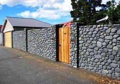 17 Desain Pagar Batu Alam Untuk Rumah Minimalis Modern Mewah Ideas Fence Design Boundary Walls Compound Wall Design