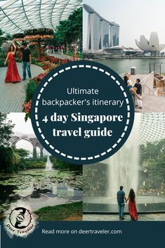 Singapore Travel Guide – Best Itinerary for backpackers and budget-friendly travel guide for all travelers. Spend the best 4 days in Singapore! Singapore Travel Tips, Singapore Itinerary, Visit Singapore, Luang Prabang, Laos, Cool Places To Visit, Places To Go, Singapore Botanic Gardens, Travel Articles